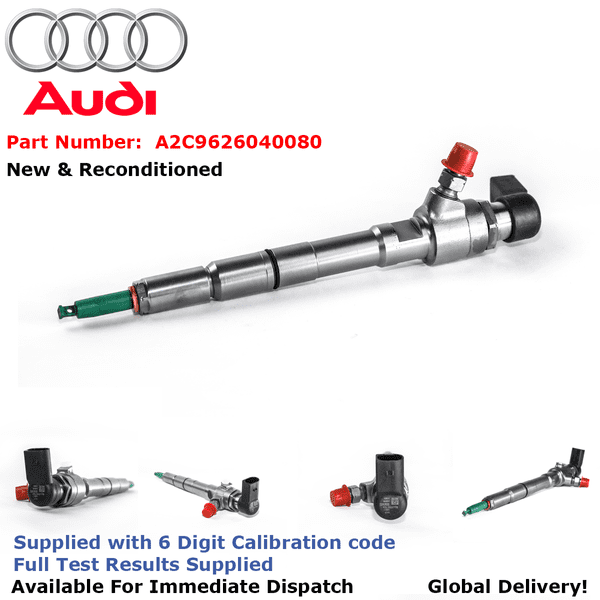 Audi A1 1.6 TDI Reconditioned Siemens Diesel Injector - A2C9626040080